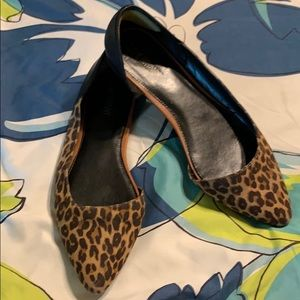 Lane Bryant Animal Print D'orsey Flats